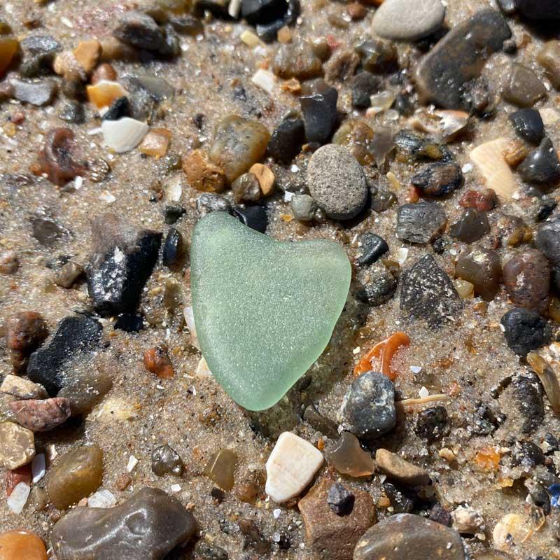 Hjertefom Sten på Hirtshals strand