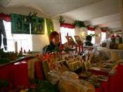 Jule markedet i den gamle købmangsgaard i Tornby